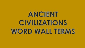 Ancient Civilizations Word Wall Cards Bundle