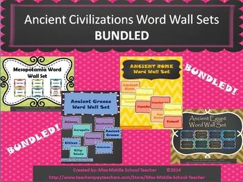 Ancient Civilizations Word Wall Sets (BUNDLED)