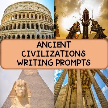 Ancient Civilizations Writing Prompts MEGA PACK