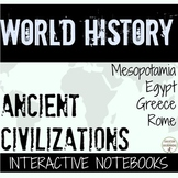 Ancient Civilizations in Europe Interactive Notebook (4 sets!) BUNDLE