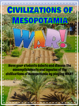 Ancient Civilizations of Mesopotamia WAR Card Game