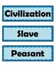 Ancient Civilizations of the Western Hemisphere Vocabulary