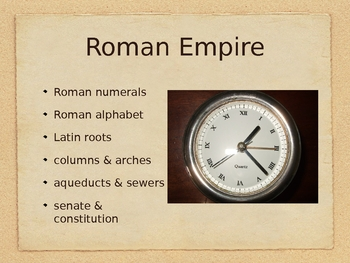 Ancient Contributions to the World - PowerPoint