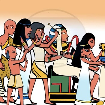 Ancient Egypt People 16 pc. Clip-Art  (BW and Color!) 8 BW/ 8Color!