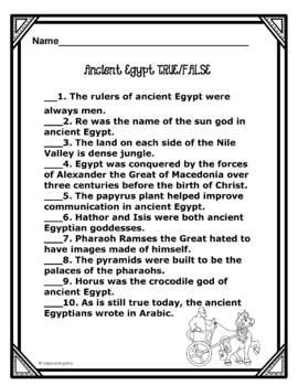 Ancient Egypt Enrichment Activities