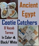 Ancient Egypt Activity: King Tut, Sphinx, Nile River etc. Cootie Catcher Game