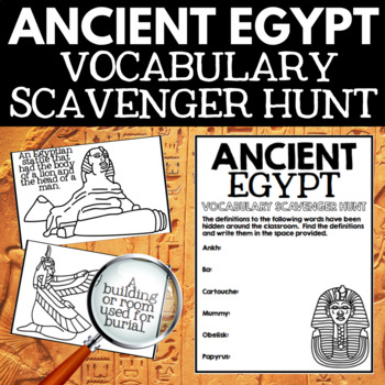Ancient Egypt Unit  Vocabulary Scavenger Hunt Activity
