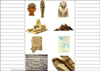 Ancient Egypt Activity/ Foldable: King Tut, Sphinx, Nile River, etc.