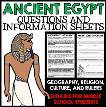 Ancient Egypt Unit - Questions, Information, Projects - Bundled Resources!