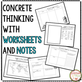 Ancient Egypt - Social Studies Interactive Notebook & Worksheets