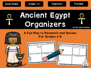 Ancient Civilizations - Ancient Egypt Organizers