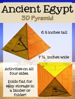 Ancient Egypt 3D Pyramid Foldable and Booklet Activities