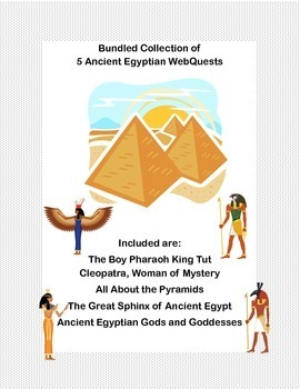 Ancient Egypt  5 WebQuest Collection-Bundled for Savings