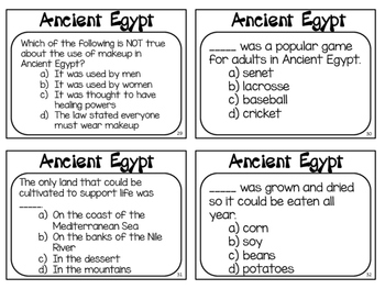 Ancient Egypt Task Cards: What do you know about Ancient Egypt?