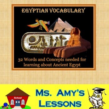 Ancient Egypt Academic Vocabulary and Concepts Packet