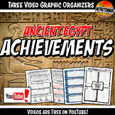 Ancient Egypt Achievements YouTube Video Graphic Organizer