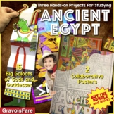 Ancient Egypt Activities BUNDLE: Gods and Goddesses and Collaborative Poster