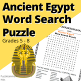 Ancient Egypt Activities - Word Search Puzzle. (Middle Sch
