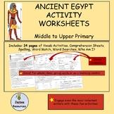 Ancient Egypt Activity Sheets