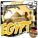 Ancient Egypt Unit Plan Common Core Activity & Note Bundle Grades 5-8