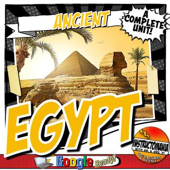 Ancient Egypt Complete Unit Plan Lesson & Activity Bundle Common Core 5-8