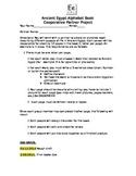 Ancient Egypt Alphabet Book - Unit Project