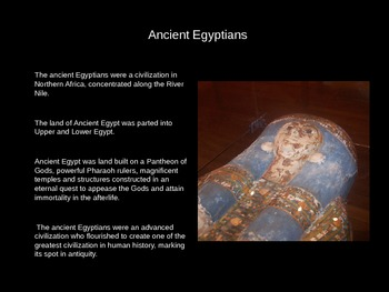 Ancient Egypt - An Introduction PowerPoint + 8 Worksheets