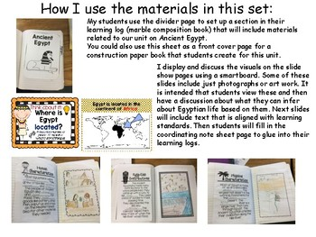 Ancient Egypt: Ancient Civilization Teaching Slide Show and Activity Resources