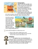 Ancient Egypt Art Lesson Papers