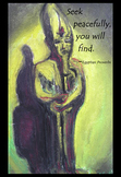 """Ancient Egypt Art Proverb Poster """"Seek Peacefully"""""""