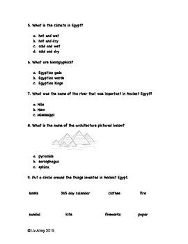 Ancient Egypt Assessment