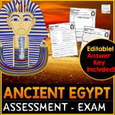Ancient Egypt Exam - Assessment   Ancient Egypt Test Quiz