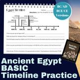 Ancient Egypt BASIC Timeline Practice