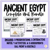 Ancient Egypt BUNDLE: Egyptian Pharaohs and Social Pyramid