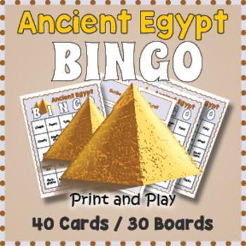 Ancient Egypt Bingo Game