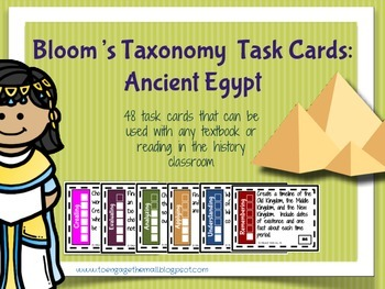 Ancient Egypt Bloom's Taxonomy Task Cards