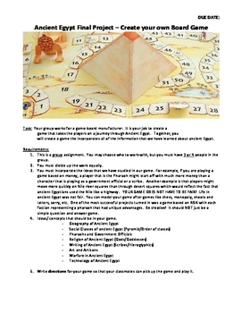 Ancient Egypt Board Game Project