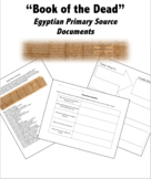 Ancient Egypt Book of the Dead Primary Source Artifact Bundle