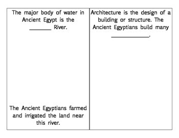 Ancient Egypt Booklet