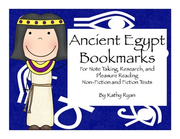 Ancient Egypt Bookmarks for Research and Enjoyment