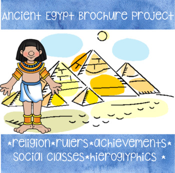 Ancient Egypt Brochure Pbl By Miss6thstalford Tpt