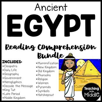 Ancient Egypt Bundle 15 Reading Comprehension Articles, Civilizations