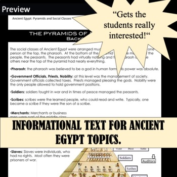 Ancient Egypt Bundle of 18 Station Activities for Ancient Egypt Unit (SAVE)