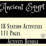 Ancient Egypt Bundle of 18 Station Activities for Ancient