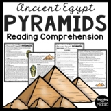 Ancient Egypt Pyramids Reading Comprehension, Ancient Civilizations, Giza