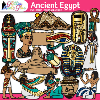 Ancient Egypt Clip Art {Civilization and Culture Along the Nile River}