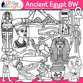 Ancient Egypt Clip Art {Civilization and Culture Along the Nile River} B&W