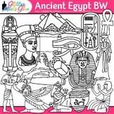 Ancient Egypt Clip Art   Civilization and Culture Along the Nile River   B&W