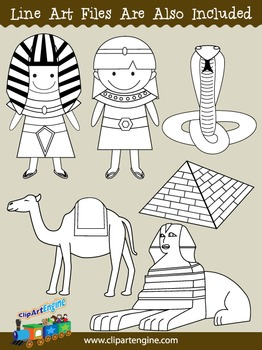 Ancient Egypt Clip Art Collection