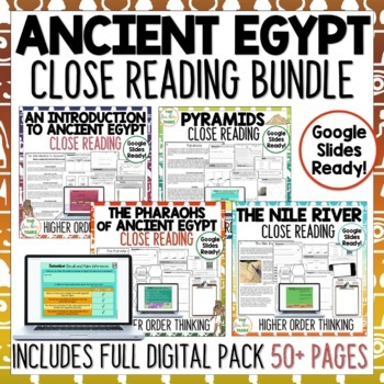 Ancient Egypt Reading Comprehension Passages and Questions US NZ